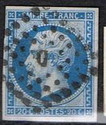 14 Bleu Losange D TTB - Marcophilie (Timbres Détachés)
