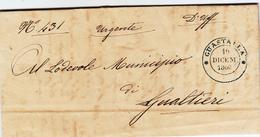 Amministrazione Delle Poste Ducato Di Modena. Guastalla Per Gualtieri. Piego Con Contenuto 1860 - Modena