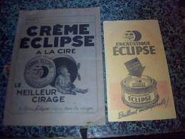 Vieux Papiert Protege Cahier Creme Et Brillant  Eclipse A La Cire - Blotters