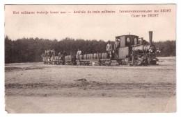 Interneeringekamp Bij Zeist - Het Militaire Treintje Komt Aan - édit. Non Identifié  + Verso - Zeist