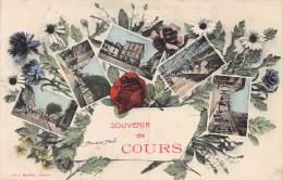 69 - RHONE / Cours - Souvenir - Belle Carte Fantaisie - Cours-la-Ville