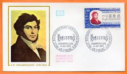 MAURY N° 1734     J. F.  CHAMPOLLION   46 FIGEAC 1972 Lettre Entière N° BB 805 - Marcophilie (Lettres)
