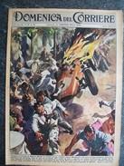 DOMENICA DEL CORRIERE N°32 DEL 7 AGOSTO 1960 INCIDENTE AUTOMOBILISTICO CIRCUITO DI SALERNO E ORSA AGGREDITA DA UN CANE - Libri, Riviste, Fumetti