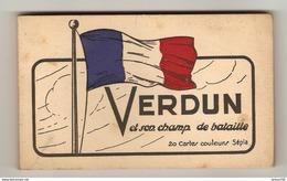 CARNET NEUF DE 20 CARTES SÉPIA VERDUN ET SON CHAMP DE BATAILLE - ÉDITION ELV - DRAPEAU FRANCE - 2 Scans - - Guerre 1914-18