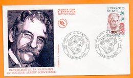 MAURY N° 1820  DOCTEUR A. SCHWEITZER    68 KAYSERSBERG  1975 Lettre Entière N° BB 819 - Postmark Collection (Covers)