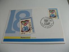 STORIA POSTALE FRANCOBOLLO COMMEMORATIVO 18° ENNI  ITALIA MAXIMUM - Non Classificati