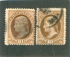 1870 ETATS UNIS Y & T N° 44 Et 55 ( O ) Les 2 Timbres - Gebraucht