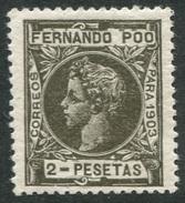 Fernando Poo 1903 Edifil 131** Nuevo 2 Pts Verde Bronce LUJO - Fernando Po