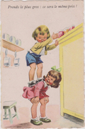 Illustrateur :   Janser :  Enfant , Prends Le  Plus  Gros , Ce... - Künstlerkarten