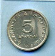 1978 5 Drachmes - Grèce