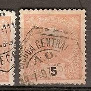 Portugal & Marcofilia D. Carlos I, 1895-96  Lisboa  (121) - Oblitérés