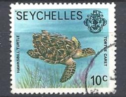 SEYCHELLES   1977 Marine Life      USED  Eretmochelys Imbricata  TURTLE - Seychelles (...-1976)