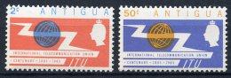 Antigua  Y&T  144 - 145  --  Centenaire UIT - ITU Centenary  1965   ---   MNH
