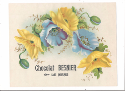 GRAND CHROMO CHOCOLAT BESNIER LE MANS - FLEURS - - Chocolat