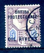 Oil Rivers - Nigeria - 1892-94 GB Stamps Overprinted - 2d Dull Purple & Blue Used (SG 5) - Nigeria (...-1960)