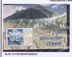 TADJIKISTAN 1997 PIC MONTAGNEUX BLOC12 MNH - Tadjikistan