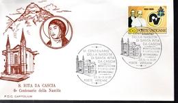 VATICAN  FDC 1981 Sainte Da Cascia - Vaticano
