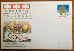 China 1993, JP. 39, International Olympic Day '93, A More Open China Awaits 2000 Olympics - China