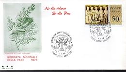 VATICAN  FDC 1978 Paix - Vatikan
