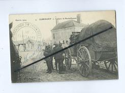 CPA - Clermont -Guerre 1914 - Voiture De Ravitaillement   (cachet:16e Escadron Du Train Des E.M) - Clermont