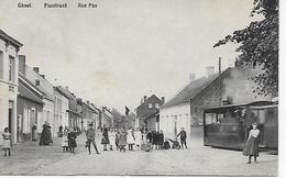 Gheel - Geel - Passtraat - Rue Pas - Stoomtram - Tram à Vapeur ( TOP) Voyagé - TTB état - Geel
