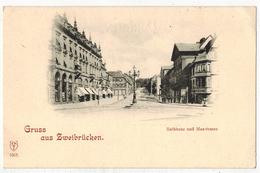 """ALLEMAGNE ZWEIBRUECKEN ZWEIBRÜCKEN : """" Rathaus Und Maxstrasse """" - Zweibruecken"""
