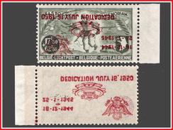 Belgium PR 114 DEDICATION JULY 16.1950 ** Kopstaande Op / Sur Renversée -MNH- LUXE ! - Erinnophilie