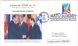 SOMMET OTAN 1949 1999 DECLARATION SUR LE KOSOVO