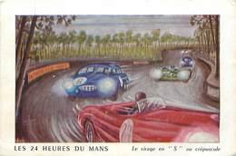 Ref U212-size -dimensions Environ: 15cms X10cms - Les 24heures Du Mans -sarthe -le Virage En S - - Le Mans