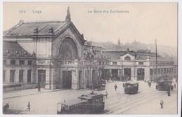 Liège Cpa  La Gare Des Guillemins Bel  Animation Anno 1923 - Liege