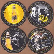 AC - MILLER BEER COASTER 2004 IN ORIGINAL BOX 6 COASTERS - Bierviltjes