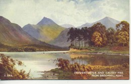 VALENTINES ART A846 - DERWENTWATER AND CAUSEY PIKE FROM BROOMHILL POINT - E H THOMPSON - Cumberland/ Westmorland