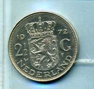 1972 2,5 FLORINT - [ 3] 1815-… : Royaume Des Pays-Bas