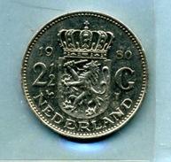 1980  2,5 FLORINT - [ 3] 1815-… : Royaume Des Pays-Bas