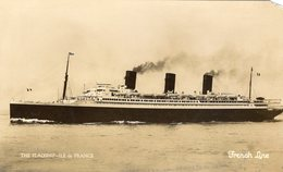 Paquebot  -   Flagship  'Ile De France'    -  CPA - Dampfer