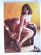 """CPM  L'astragale Bouvattier Annick   T.B.E. 18 X 13 Cm """"huile Sur Toile 73 X 100 Cm"""" - Peintures & Tableaux"""