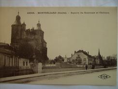 Doubs Montbeliard Square Du Souvenir Et Chateau - Montbéliard