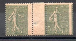 FRANCE - YT N° 130 - Piquage à Cheval  - Neufs ** - MNH - Variétés: 1900-20 Neufs