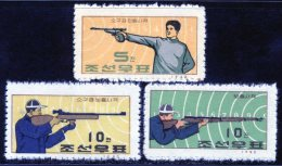 Korea 1963, SC #500-02, Shooting Competition - Tir (Armes)