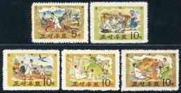 Korea 1963, SC #495-99, Tale Of Hung Bu - Fiabe, Racconti Popolari & Leggende