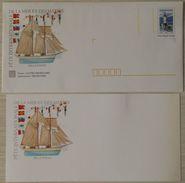 Lot De 1 Enveloppe Prêt à Poster Phare D´Ar-Men  Fête Internationale De La Mer Et Des Marins Brest  Belle Poule Neuve Av - Postal Stamped Stationery