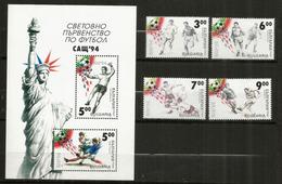 Actions De Jeux Aux Coupes Du Monde Des Années 1962-1966-1971-1974-1994. Série Complète 4 Timbres + B-F Neufs ** - Football
