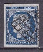 N° 4a Type Cérès De 1849 à 1850 25c Bleu Foncé  Beau Timbre - 1849-1850 Ceres