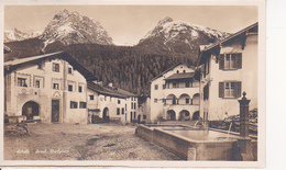 AK Schuls - Scuol - Dorfplatz - 1929 (27076) - GR Grisons