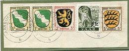 VR 98 Sarre Fragment De Lettre De Saarburg (Bz Trier) Du 28.1.47 Avec Affranchissement Mixte Sarre Et Zone Française - Lettres & Documents