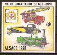 Bloc CNEP Salon Philatélique De Mulhouse, Alsace 1991 Numérotation * 035328 - CNEP