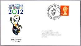 WELCOME TO LONDON 2012. Inicio De Los Juegos Olimpicos. Cronometro - Chronometer. Stratford 2012