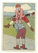 Deux Enfants Qui Jouent à Saute Mouton - Cartes Postales