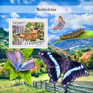 Mozambique - Postfris/MNH - Sheet Vlinders 2016 - Mozambique