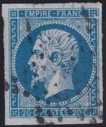 N°14A Variété Suarnet N°5, Position 018G2, Belles Marges, TB - 1853-1860 Napoleon III